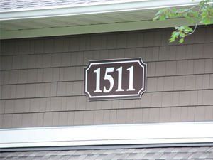 Building Address Signs