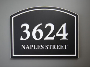 Building Address Signs w/ Street
