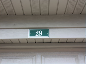 Garage / Carport Address Signs