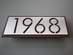 Horizontal Metal Address Signs