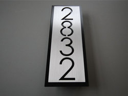 Vertical Metal Address Plaque