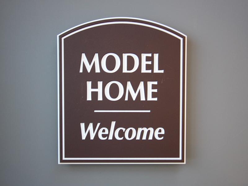 Model home signage