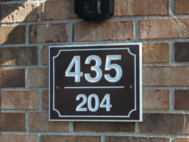 Custom Plaque with Building & Unit Number