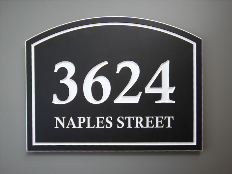 Building Address Signs W Street Elements Inc