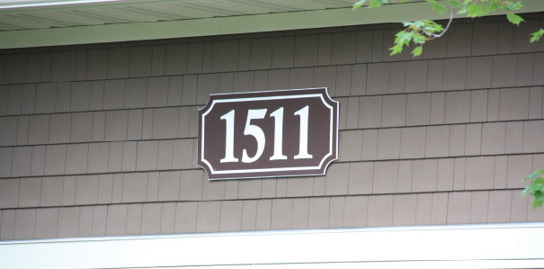 Building Address Sign