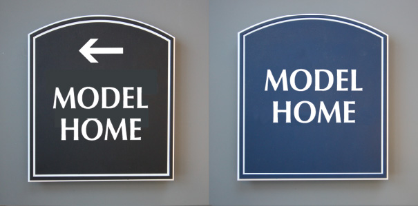 model home signs quick ship elements inc