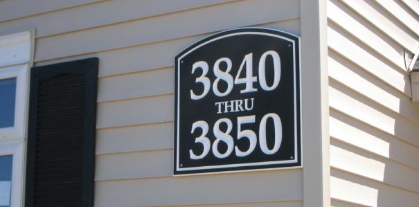 Building Address Signs Elements Inc